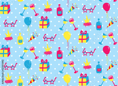 Cotton fabric Party seamless pattern