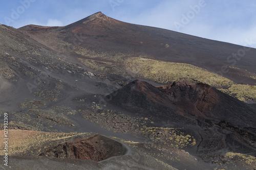Staande foto Vulkaan Etna crater and volcanic landscape around mount Etna, Sicily, It