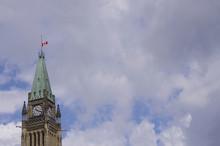 Canada Flag Half Mast On Peace...
