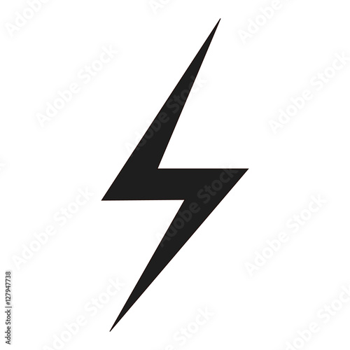 lightning bolt icon Wallpaper Mural