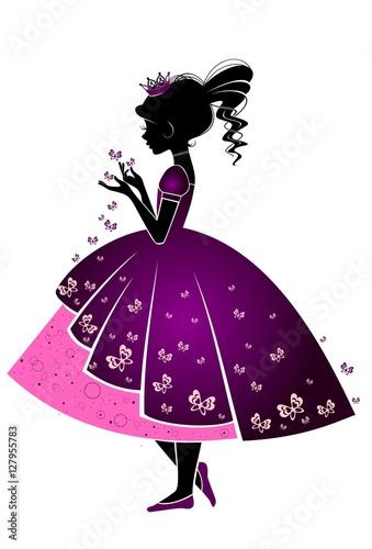 sylwetka-dziewczynki-w-kolorowej-sukience-ilustracja
