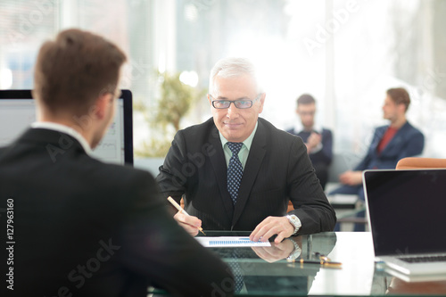 Fototapety, obrazy: Businesspeople Having Meeting In Office