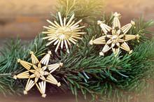 Straw Christmas Tree Decorations