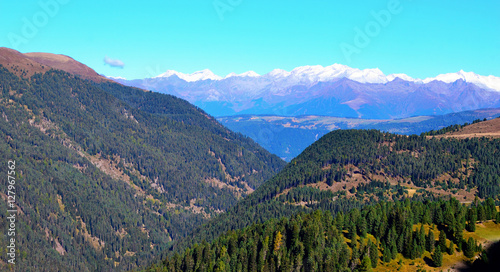 Spoed Foto op Canvas Turkoois panorama of the dolomites south tyrol italy