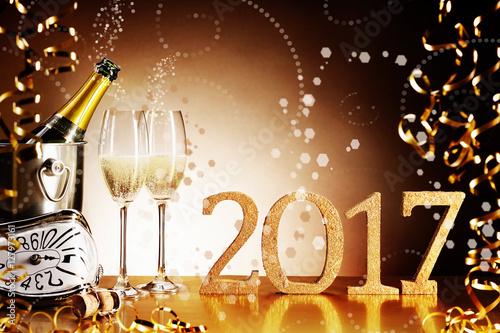 Fotografie, Obraz  Celebrating 2017 New Years Eve