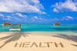 Word Health on beach