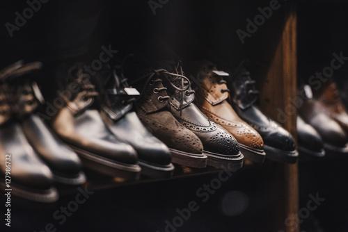Vászonkép Man shoes store