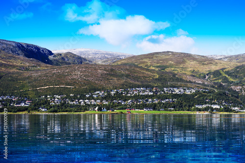 Photo Stands Norway community landscape background