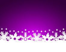 Christmas Purple Background Wi...
