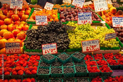 Fotografie, Obraz  Produce at Pike Place Market Seattle Washington