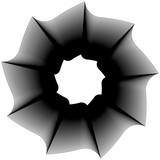 Okrągły element geometryczny - spirala obrotowa, kształt wirowy - 128005560