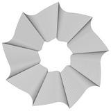 Okrągły element geometryczny - spirala obrotowa, kształt wirowy - 128005731