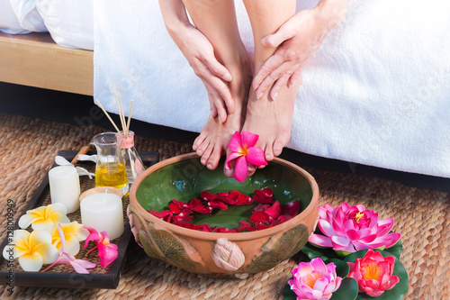 Female feet at spa Poster