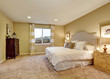 Master bedroom interior with large bed