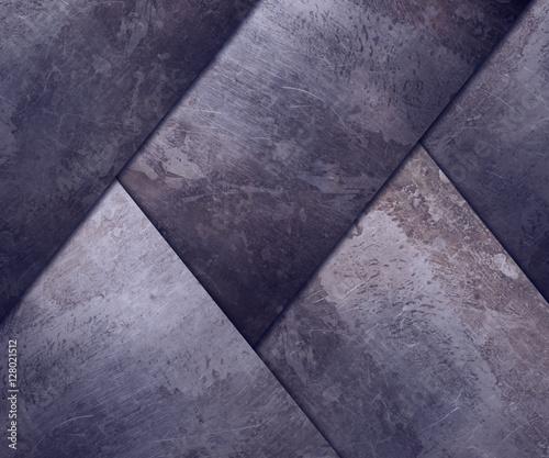 Fototapety, obrazy: diagonal rusty plates for background