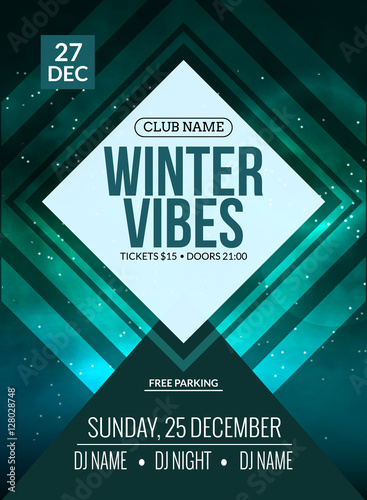 Dance Party Dj Battle Poster Design Winter Disco Party Music Event Flyer Or Banner Illustration Template Buy This Stock Vector And Explore Similar Vectors At Adobe Stock Adobe Stock