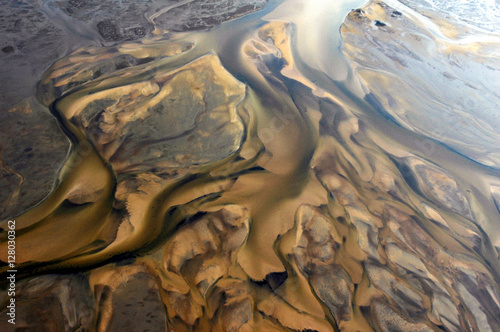 Recess Fitting Air photo Aerial of sand dunes in Domaine de Certes, Arcachon