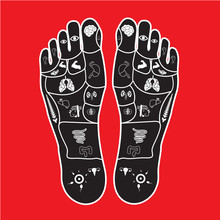Foot Massage Print For Body Pa...