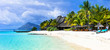 canvas print picture - amazing white beaches of Mauritius island. Tropical vacation