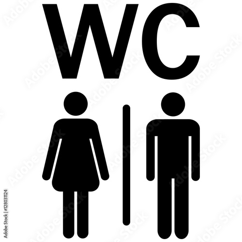 WC sign Men Women Poster