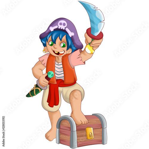 Fotografie, Obraz  pirate boy