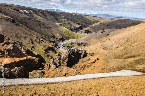 Asgard river canyon in Kerlingarfjoll area, Iceland Poster