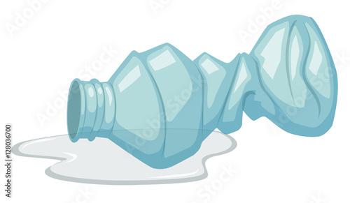 Fotografia, Obraz  Used plastic bottle on white background