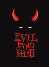 Evil From Hell. T-Shirt Design...