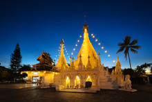 Temple Wat Phra That Doi Kong Mu At Mae Hong Son, Thailand