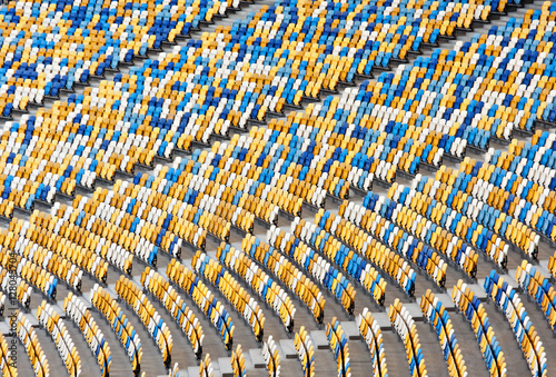 Fotobehang Stadion Seats at the stadium