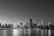 Midtown Manhattan skyline black and white