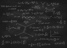Science Blackboard With Math. ...