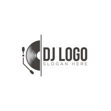 DJ Logo Design Vector