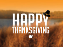 Happy Thanksgiving Message Wit...