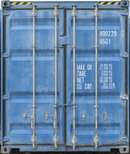Blue Metal Shipping Container ...