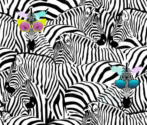 abstrakcjonistyczny-ilustracyjny-stado-zebry-zwierzecy-bezszwowy-wzor