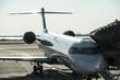 private jet at the aerodrome