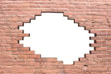 Hintergrund Rote Backsteinwand Mit Fehlstellen 3D