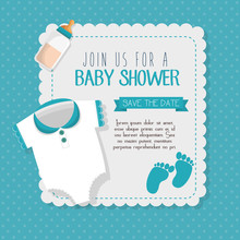 Baby Shower Invitation Card Ve...