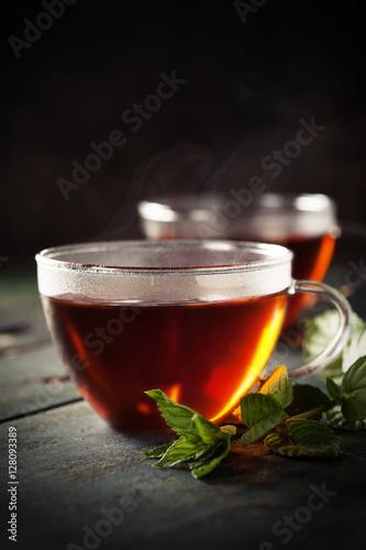 Staande foto Thee Cups of tea