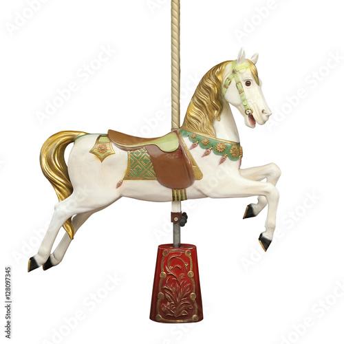 Fotografía  Cheval de bois d'un carrousel