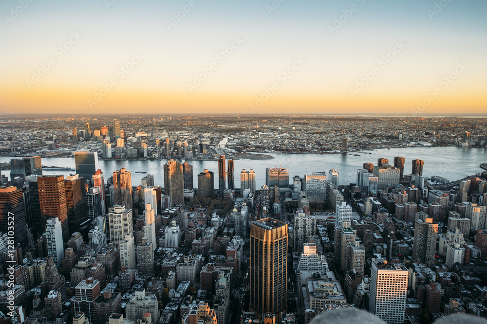 Fototapety, obrazy: United states of america, new york city, cityscape at dusk