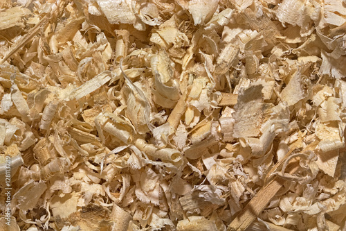 Background of randomly placed wooden shavings Tapéta, Fotótapéta