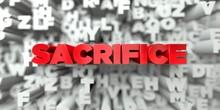 SACRIFICE -  Red Text On Typog...