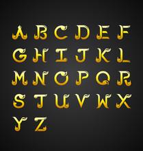 Thai Calligraphic Alphabet Des...
