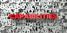 CAPABILITIES -  Red Text On Ty...