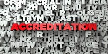 ACCREDITATION -  Red Text On T...
