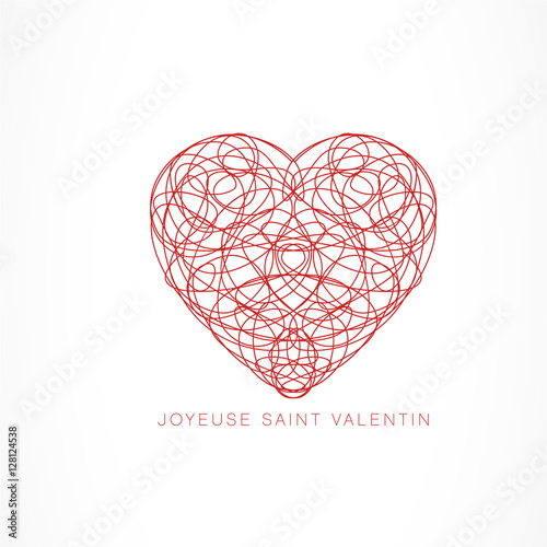 Photo joyeuse st valentin