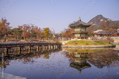 Foto op Canvas Seoel Nov 16, 2016 at Gyeongbokgung palace, Seoul , Korea