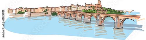 Ville d'Albi Canvas Print